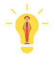 idea concept lamp head businessman have got an vector image