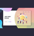 inspiration creative idea landing page template vector image vector image