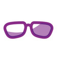 isolated cute glasses vector image
