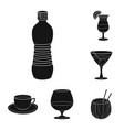 isolated object of drink and bar sign collection vector image vector image