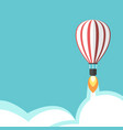 jet propelled balloon vector image vector image