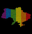 lgbt pixel ukraine map with crimea vector image