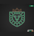 lion shield logo vector image vector image
