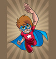 little super boy ray light background vector image