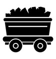 mine cart icon simple style vector image vector image