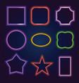 neon frames vector image
