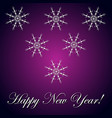 new year inscription and snowflake violet vector image vector image