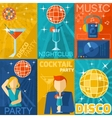 Night Club Poster Set vector image vector image