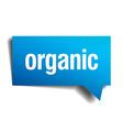 organic blue 3d realistic paper speech bubble vector image vector image