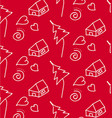 pattern strokes children white on a red vector image