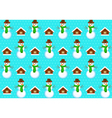pattern with snowmans vector image