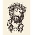 Portrait of Jesus Christ Hand drawn sketch vector image vector image
