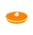 pumpkin pie traditional thanksgiving food vector image vector image