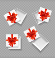 realistic detailed 3d empty boxes set vector image vector image