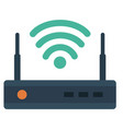 router flat icon vector image vector image