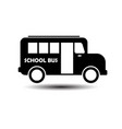 school bus icon on white background vector image