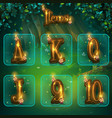set different letters for game user interface vector image vector image