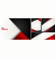 set template red and black triangle on white vector image