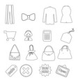 shopping line icons set e-commerce and shopping vector image vector image