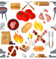 summer picnic barbecue and grilled food steak vector image