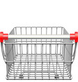 supermarket cart rear view vector image vector image