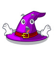 surprised witch hat isolated with the mascot vector image vector image