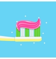 toothpaste on tooth brush close up vector image vector image