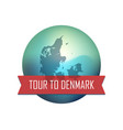 tour to denmark vector image vector image