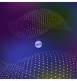 wavy abstract background with circles vector image