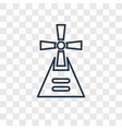 windmill concept linear icon isolated on vector image