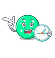 with clock circle character cartoon style vector image