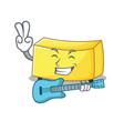 with guitar butter mascot cartoon style vector image vector image
