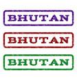 bhutan watermark stamp vector image