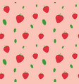 fruits strawberries seamless patterns vector image