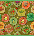 cute various mexican icons seamless vector image