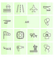 14 air icons vector image vector image