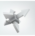 3d cube with arrows vector image
