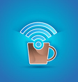 3d icon paper Internet Cafe with shadow effect on vector image vector image