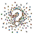 a crowd of people in the form of a question symbol vector image vector image