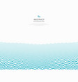 abstract blue wavy pattern stripe lines ocean sea vector image vector image
