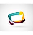 Abstract geometric company logo frame screen vector image vector image