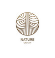 abstract linear logo pattern tree vector image
