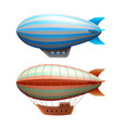airship isolated on white vector image vector image