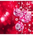 Background with stars and Christmas balls EPS 10 vector image vector image
