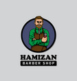 barbershop logo template good for print design vector image