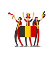 belgian flag belgium people day vector image vector image