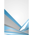 Blue and grey corporate background vector image vector image