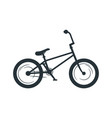 bmx bicycle silhouette vector image