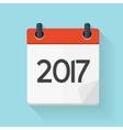 Calendar 2017 Flat Daily Icon vector image vector image
