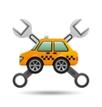 Car taxi tools repair icon design vector image